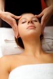 Woman having a massage Stock Photos