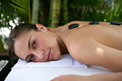 Woman having a massage Royalty Free Stock Images