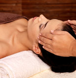 Woman having massage in the spa salon Royalty Free Stock Image