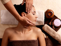 Woman having massage in the spa salon Stock Photography