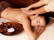 Woman having massage in the spa salon Royalty Free Stock Photos