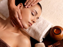 Woman having massage in the spa salon Royalty Free Stock Photography