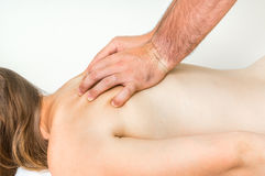 Woman having massage in spa salon Royalty Free Stock Images