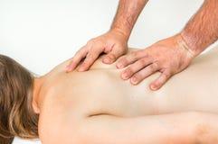 Woman having massage in spa salon Royalty Free Stock Photos