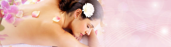 Woman having massage Royalty Free Stock Images