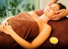 Woman having massage Royalty Free Stock Photos