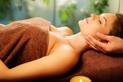 Woman having massage Stock Photos