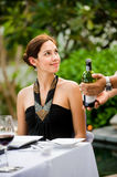 Woman Having Meal Royalty Free Stock Image