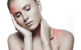 Woman having a migraine Stock Photo