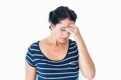 A Woman having a migraine Stock Photos