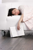 Woman having nap Royalty Free Stock Image
