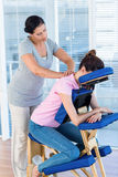 Woman having neck massage Stock Image