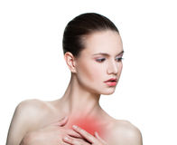 Woman Having a Pain Royalty Free Stock Photos