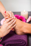 Woman having a pedicure treatment at a spa Royalty Free Stock Photos