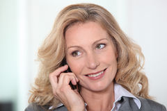 Woman having phone call Stock Photography