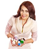 Woman having pills and tablets. Stock Photography