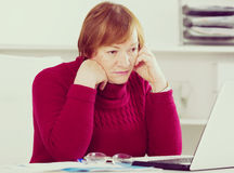 Woman having problem Royalty Free Stock Image
