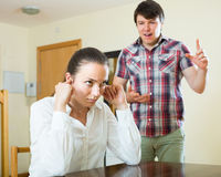 Woman having problems with her husband Royalty Free Stock Photography