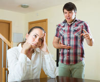 Woman having problems with her husband Royalty Free Stock Photo