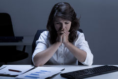 Woman having problems at work Stock Photography