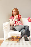 Woman having quiet time at home Royalty Free Stock Photography