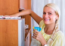 Woman having regular clean-up Royalty Free Stock Images