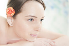 Woman having relaxing massage at spa Royalty Free Stock Photos