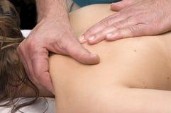 Woman having shoulder Massage Stock Photography