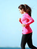 Woman having some exercise Stock Photography