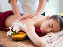 Woman having spa body massage treatment in the spa salon,Massage. And body care Royalty Free Stock Images