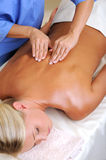 Woman having spa massage in beauty salon Stock Photography