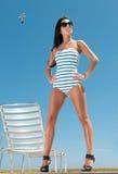 Woman having sun Royalty Free Stock Images