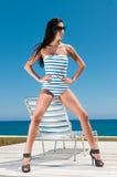 Woman having sun Stock Images