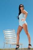 Woman having sun Stock Image