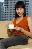 Woman Having Tea Royalty Free Stock Photography