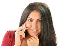 Woman having telephone conversation Royalty Free Stock Photos
