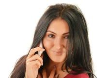 Woman having telephone conversation Stock Photography
