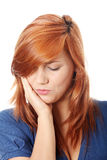 Woman is having toothache Stock Photo