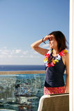 Woman in Hawaii Stock Image