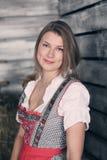 Woman at hay Royalty Free Stock Photography