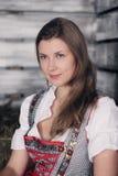 Woman at hay Royalty Free Stock Photo