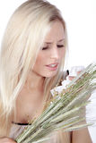 Woman with hay fever Stock Photography