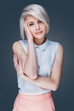 Woman with head-ache Stock Photography