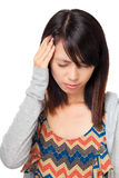 Woman with head ache Stock Image