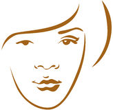 Woman head contour Stock Images