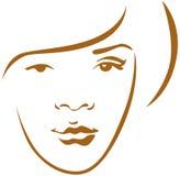 Woman head contour Stock Images
