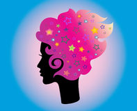 Woman head and hair. (hair stylist vector vector illustration