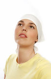 Woman head with headscarf Stock Photo