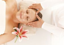 Woman on head massage Royalty Free Stock Images