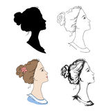 Woman head profiles Royalty Free Stock Images